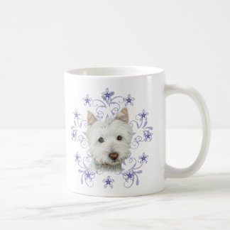 Mug L'art mignon et la neige de chien de Westie de