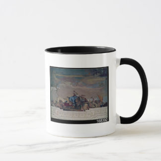 Mug L'Asie, un de quatre continents du plafond