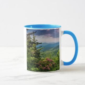 Mug Laurier de montagne au lever de soleil