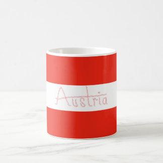 Mug L'Autriche - drapeau et manuscrit