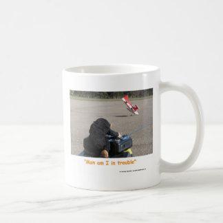 Mug L'avion s'écrasant des papas RC de singe d'animal