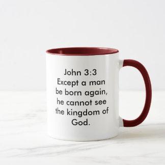 Mug Le 3:3 de John excepté un homme soit soutenu