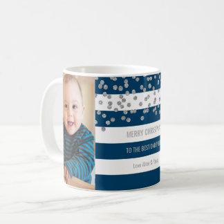 Mug Le bleu marine barre meilleur Noël de papa de