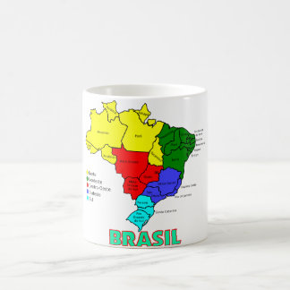 Mug Le Brésil. Régions en couleurs