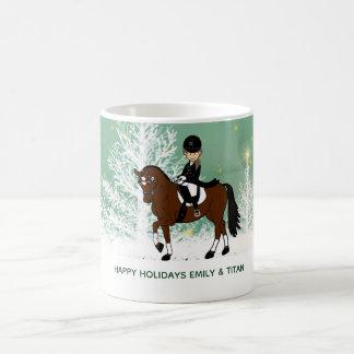 Mug Le cadeau fait sur commande de cavalier de cheval