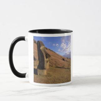 Mug Le Chili, île de Pâques. Hillside avec Moai