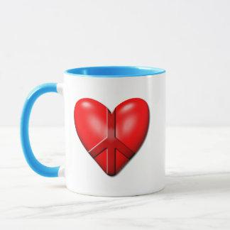 Mug Le coeur de paix