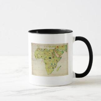 Mug Le continent de l'Afrique