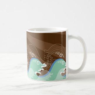 Mug Le cool ondule la plage tropicale de rayures de