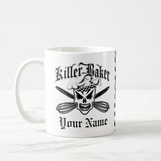 Mug Le crâne de chef et croisé bat 2 : Baker de tueur