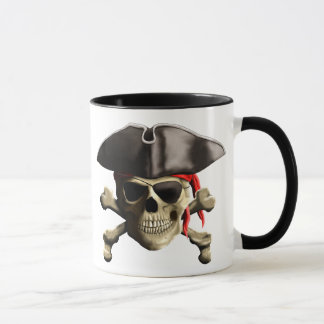 Mug Le crâne de pirate de jolly roger