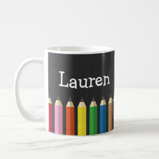Mug Le crayon d'arc-en-ciel de tableau crayonne la
