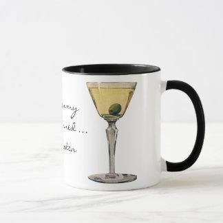 Mug Le cru boit des boissons, cocktail d'olive de