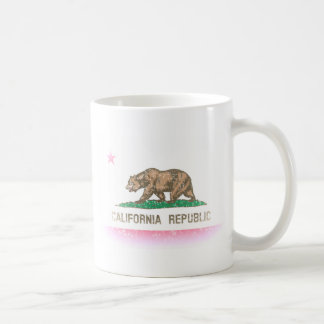 Mug Le cru se fanent drapeau de la Californie