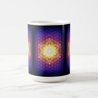 Mug Le cube/fleur de Metatron de la vie