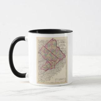 Mug Le Delaware, Montgomery, oppose des comtés