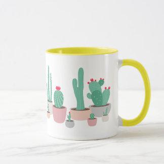 Mug Le désert rêve les cactus mis en pot