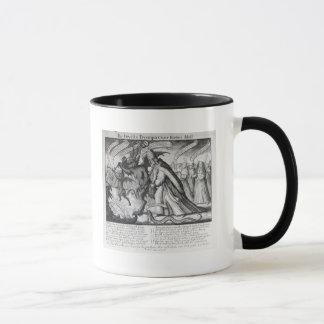 Mug Le diable menant le pape dans les chaînes, 1680