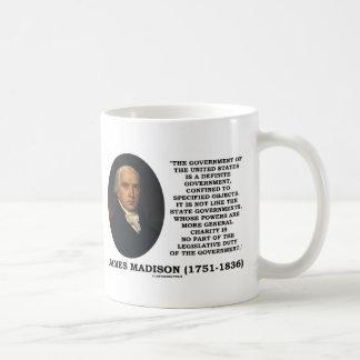 Mug Le gouvernement de James Madison des Etats-Unis a