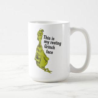 Mug Le Grinch | Grinch de repos font face