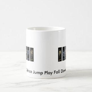 Mug Le jeu de saut de danse tombent vers le bas