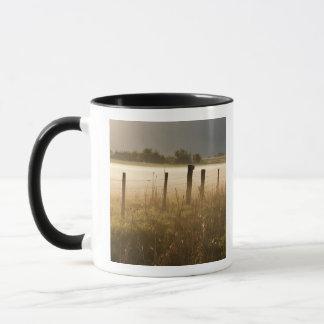 Mug Le lever de soleil allume le brouillard le long de