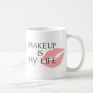 Mug le maquillage est mes baisers de la vie