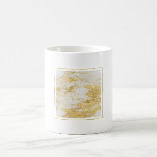 Mug Le marbre blanc étincelant d'or font ce qui vous