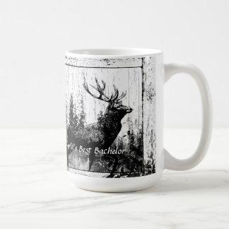 Mug Le meilleur papa de mâle du monde vintage de cerfs