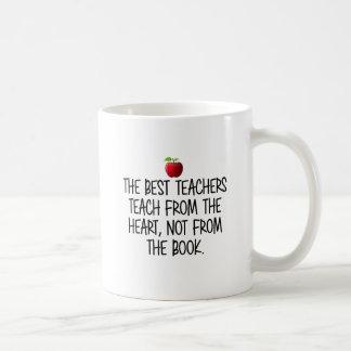 Mug Le meilleur professeur du coeur, pas du livre