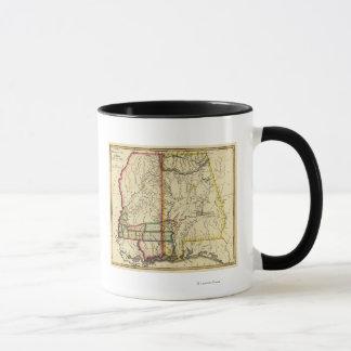 Mug Le Mississippi et carte d'AlabamaPanoramic