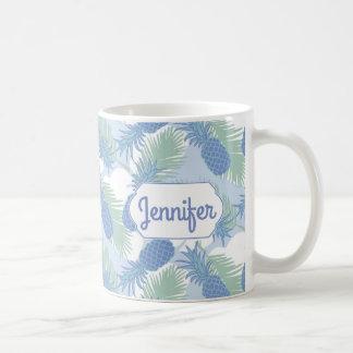 Mug Le motif en pastel tropical | d'ananas ajoutent
