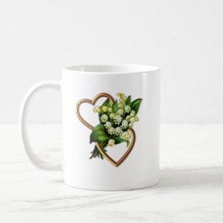 Mug Le muguet avec deux coeurs