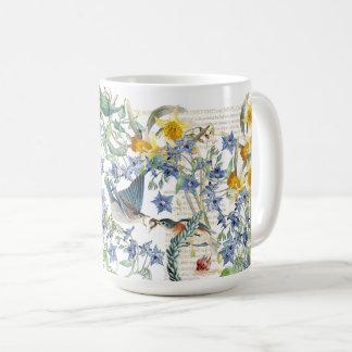 Mug Le narcisse d'oiseaux d'oiseau bleu d'Audubon