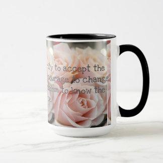Mug Le noir fait sur commande des roses de sonnerie de