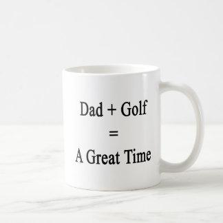 Mug Le papa plus le golf égale un grand temps