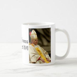 Mug Le pape Benoît XVI, le pape Benoît XVI, son Holin…