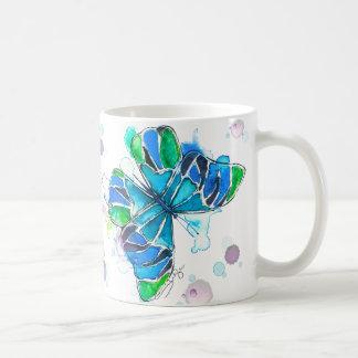 Mug Le papillon souhaite l'aquarelle