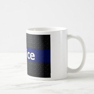 Mug Le plat de diamant de police amincissent Blue Line