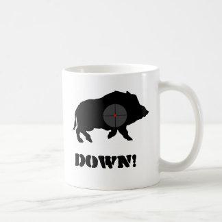 Mug Le porc noir de Bucknuts attaquent vers le bas