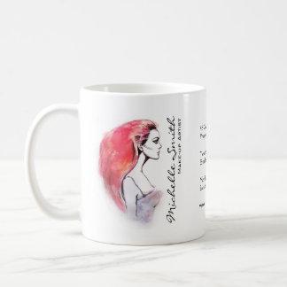 Mug Le portrait de femme d'aquarelle composent le