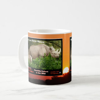 Mug Le rhinocéros blanc du nord est espèce menacée -