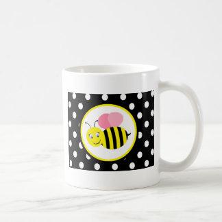 Mug Le ronflement gaffent l'abeille - rose/noir