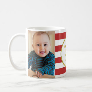 Mug Le rouge barre Noël de grand-maman de photo d'or