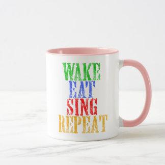 Mug Le sillage mangent chantent la répétition