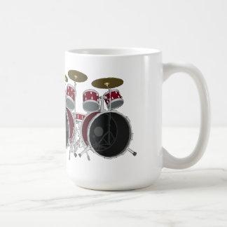 Mug Le tambour a placé (rouge) - double coup-de-pied -