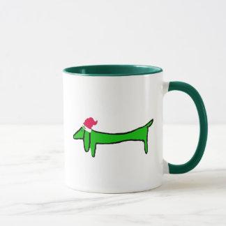 Mug Le teckel pour Noël