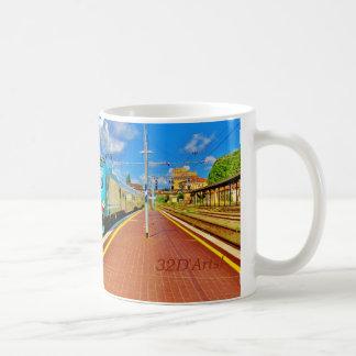 Mug Le train de Florence arrive à la plate-forme de
