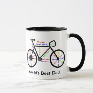 Mug Le vélo de motivation de mots, font un cycle le