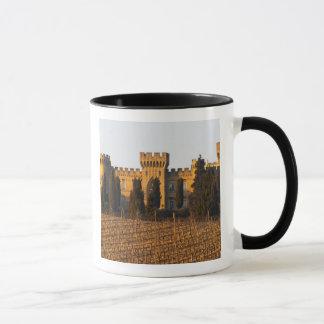 Mug Le vignoble avec les vignes de syrah et le château